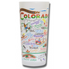 State of Colorado Frosted Glass Tumbler