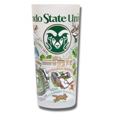 Colorado State Collegiate Frosted Glass Tumbler