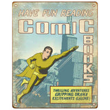 Comic Books Metal Sign