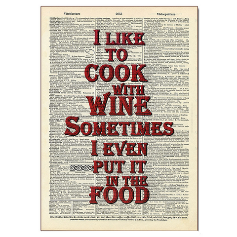 Cooking With Wine Wood Sign