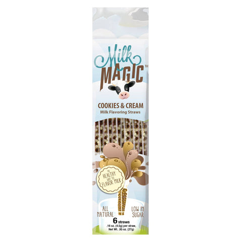 Cookies & Cream Magic Milk Straws