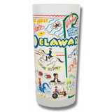 State of Delaware Frosted Glass Tumbler