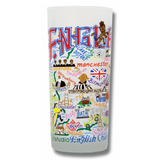 England Frosted Glass Tumbler