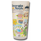 Georgia Tech Collegiate Frosted Glass Tumbler