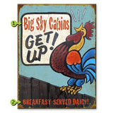Get Up! Rooster Custom Sign