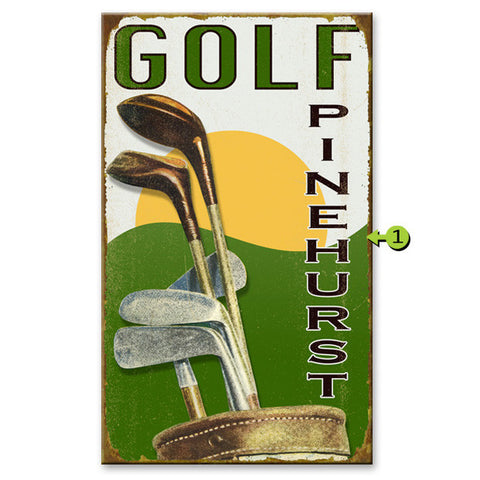 Golf Clubs Custom Sign
