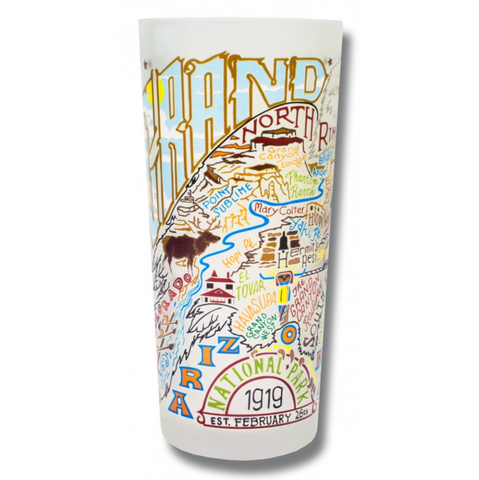 Grand Canyon Frosted Glass Tumbler