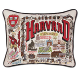 Harvard Collegiate Embroidered Pillow