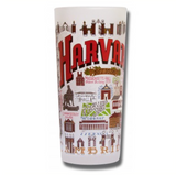 Harvard University Collegiate Frosted Glass Tumbler