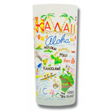 State of Hawaii Frosted Glass Tumbler