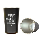 Count the Head Lice Pint Glass