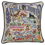 Hill Country Hand-Embroidered Pillow