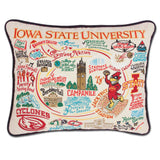 Iowa State University Collegiate Embroidered Pillow