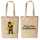 Bear Hugging, I Love You California Tote Bag