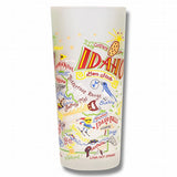 State of Idaho Frosted Glass Tumbler