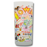 State of Iowa Frosted Glass Tumbler