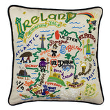 Ireland Hand-Embroidered Pillow