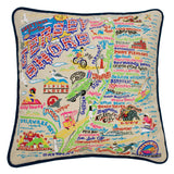 Jersey Shore Embroidered Pillow
