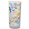 State of Kentucky Frosted Glass Tumbler