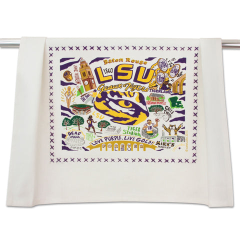 LSU Collegiate Dish Towel