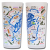 Lake Tahoe Frosted Glass Tumbler