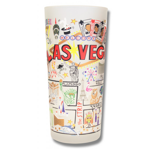 Las Vegas Frosted Glass Tumbler