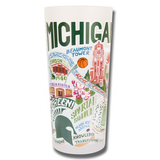 Michigan State Collegiate Frosted Glass Tumbler