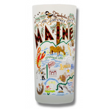 State of Maine Frosted Glass Tumbler