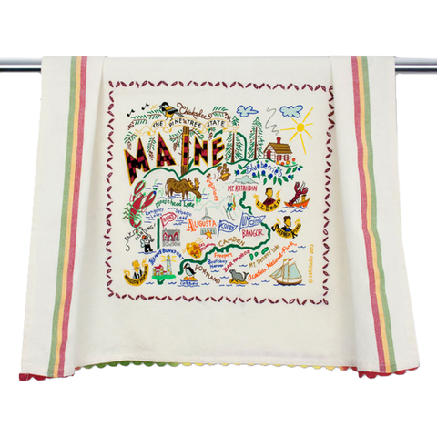 State of Maine Dish Towel