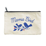 Mama Bird Canvas Pouch