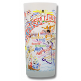 State of Maryland Frosted Glass Tumbler