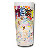 Mexico Frosted Glass Tumbler