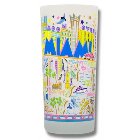 Miami Frosted Glass Tumbler
