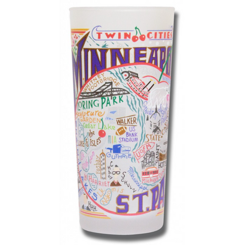 Minneapolis/St. Paul Frosted Glass Tumbler