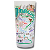 State of Minnesota Frosted Glass Tumbler