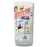 State of Mississippi Frosted Glass Tumbler
