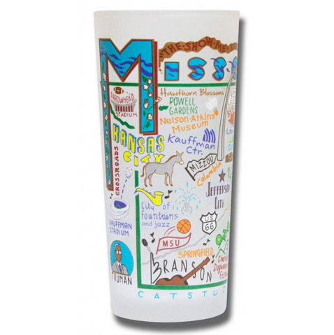 State of Missouri Frosted Glass Tumbler