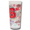 North Carolina State University Collegiate Frosted Glass Tumbler