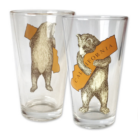 Bear Hugging, I Love You California Pint Glass