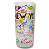 New York City Frosted Glass Tumbler