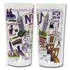 NYU Collegiate Frosted Glass Tumbler
