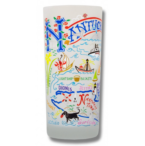 Nantucket Frosted Glass Tumbler