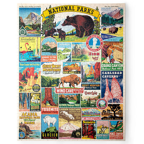 National Parks Map Jigsaw Puzzle