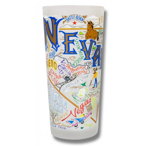 State of Nevada Frosted Glass Tumbler