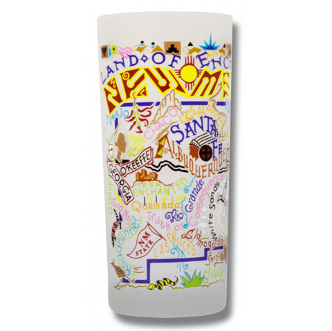 State of New Mexico Frosted Glass Tumbler
