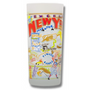 State of New York Frosted Glass Tumbler