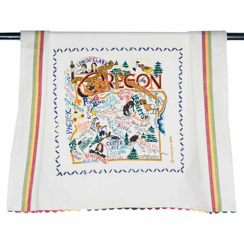 State of Oregon Dish Towel