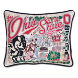 Ohio State University Collegiate Embroidered Pillow