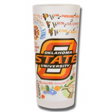 Oklahoma State University Collegiate Frosted Glass Tumbler