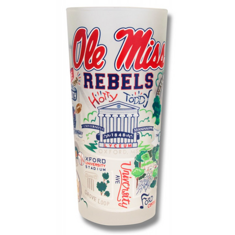 University of Mississippi (Ole Miss) Collegiate Frosted Glass Tumbler
